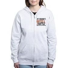 My Battle Too Uterine Cancer Zip Hoodie
