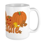 Halloween Pumpkin Eddie Large Mug