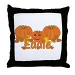 Halloween Pumpkin Eddie Throw Pillow