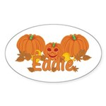 Halloween Pumpkin Eddie Sticker (Oval)