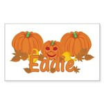 Halloween Pumpkin Eddie Sticker (Rectangle)