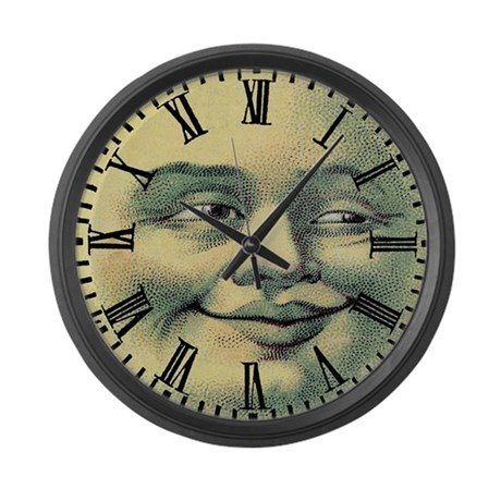 Vintage Moonface Large Wall Clock By Antiquitees