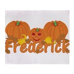 Halloween Pumpkin Frederick Throw Blanket