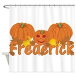 Halloween Pumpkin Frederick Shower Curtain