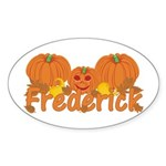 Halloween Pumpkin Frederick Sticker (Oval)
