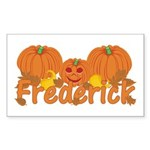 Halloween Pumpkin Frederick Sticker (Rectangle)