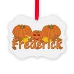Halloween Pumpkin Frederick Picture Ornament