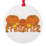 Halloween Pumpkin Frederick Round Ornament