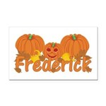 Halloween Pumpkin Frederick Rectangle Car Magnet