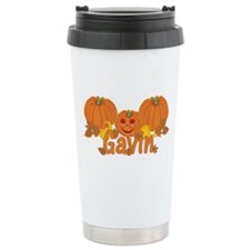 Halloween Pumpkin Gavin Ceramic Travel Mug