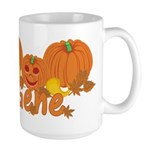 Halloween Pumpkin Gene Large Mug