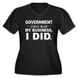 Government Didnt Build It Women's Plus Size V-Neck