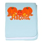 Halloween Pumpkin Harold baby blanket