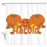 Halloween Pumpkin Harold Shower Curtain