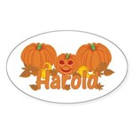 Halloween Pumpkin Harold Sticker (Oval)