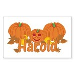 Halloween Pumpkin Harold Sticker (Rectangle)