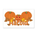 Halloween Pumpkin Harold 20x12 Wall Decal