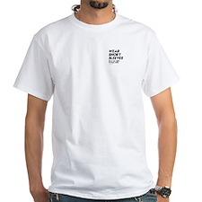 Wear short sleeves - White T-shirt