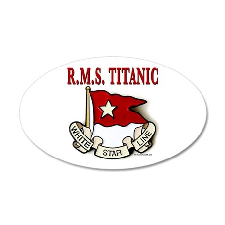 White Star Line: RMS Titanic 20x12 Oval Wall Decal