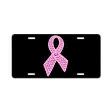 Pink Ribbon Jewels Aluminum License Plate