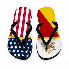 Italy Italian Sicilian American Flag Flip Flops