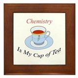 Chemistry is my cup of tea Framed Tile