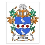 Jennings Coat of Arms Small Poster