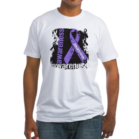 Grunge Hodgkin Lymphoma Fitted T-Shirt
