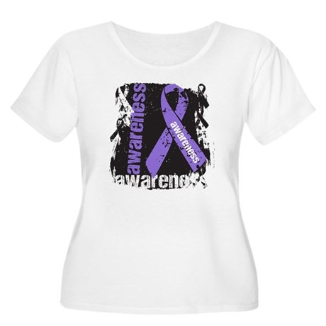 Grunge Hodgkin Lymphoma Women's Plus Size Scoop Ne