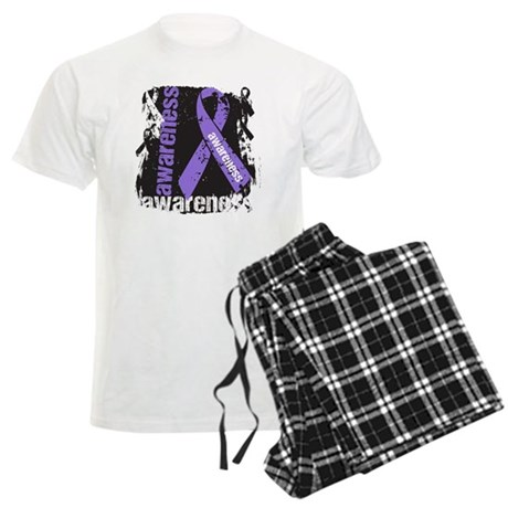 Grunge Hodgkin Lymphoma Men's Light Pajamas
