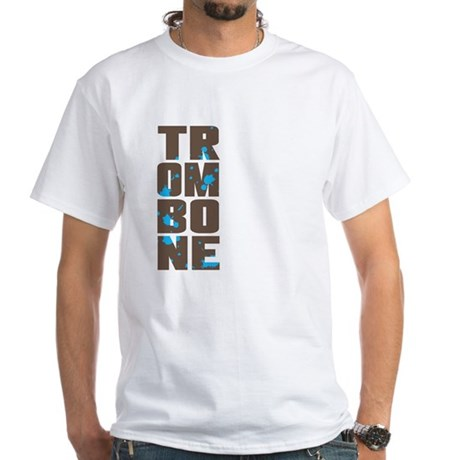 Asymmetrical Trombone White T-Shirt