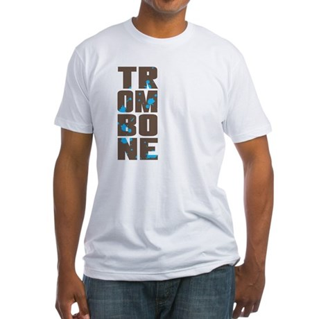 Asymmetrical Trombone Fitted T-Shirt