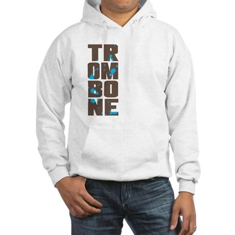 Asymmetrical Trombone Hooded Sweatshirt
