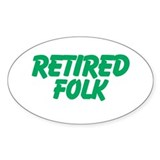Retired Folk Decal