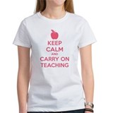 Keep calm and carry on teaching Tee