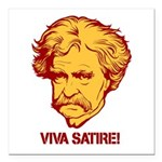 "Twain Viva Satire Square Car Magnet 3"" x 3&qu"