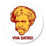 Twain Viva Satire Round Car Magnet