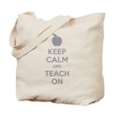 Keep calm and teach on Tote Bag