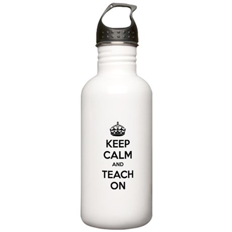 Keep calm and teach on Stainless Water Bottle 1.0L