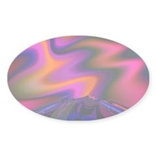 """Volcano"" Fractal Art Oval Decal"