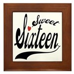 Sweet Sixteen Framed Tile