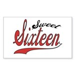 Sweet Sixteen Rectangle Sticker