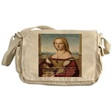 Raphaels Woman With A Unicorn Messenger Bag