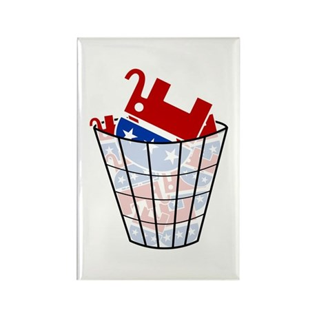 Republican Trash Rectangle Magnet