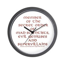 Member of the Secret Order Wall Clock