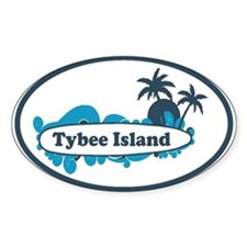 Tybee Island GA - Surf Design. Decal