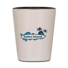 Tybee Island GA - Surf Design. Shot Glass