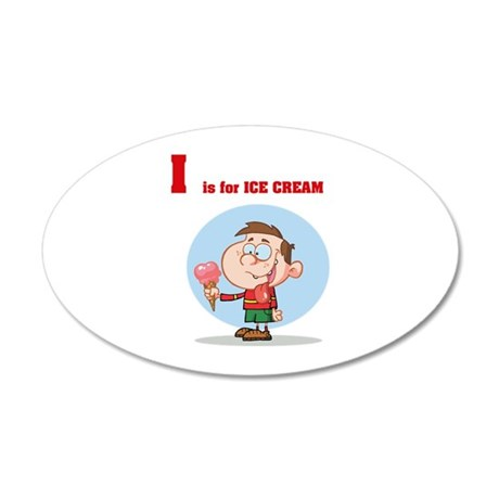 Ice Cream 38.5 x 24.5 Oval Wall Peel