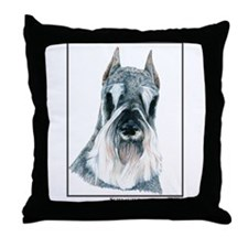 Schnauzer Open Edition Throw Pillow