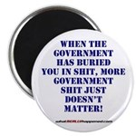 """Government buries 2.25"""" Magnet (100 pack)"""